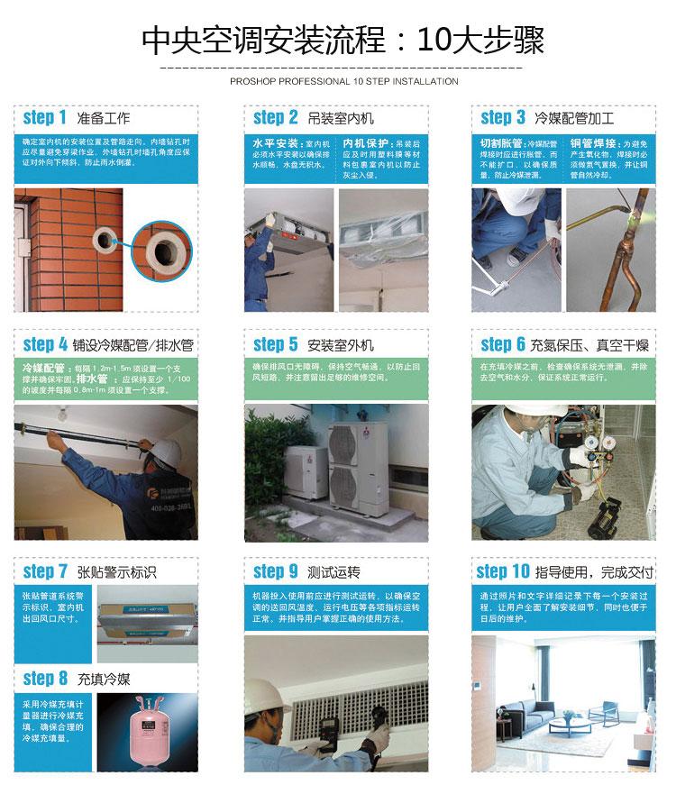 中央空调安装流程步骤